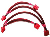 "Mod-it ""UV-4PIN-Power-Kabel"" 1Stecker/4 Kupplungen rot"