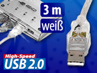 "Mod-it USB 2.0 ""Flash-Cable"" weiß 3m"