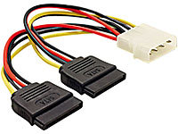 Mod-it Strom-Adapterkabel für SATA-Festplatten (Molex auf 2x SATA) ca. 15cm; Strom-Adapterkabel/Stecker, PC-Komponenten Strom-Adapterkabel/Stecker, PC-Komponenten Strom-Adapterkabel/Stecker, PC-Komponenten
