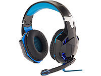 Mod-it Beleuchtetes Gaming-Headset mit Kabelfernbedienung & Mikrofon-Schalter; Over-Ear-Gaming-Headset Over-Ear-Gaming-Headset Over-Ear-Gaming-Headset Over-Ear-Gaming-Headset